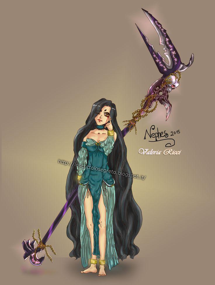 Nephes, la guardiana del portale. #fantasy #manga #girl #digitalart #locrittoiosegreto