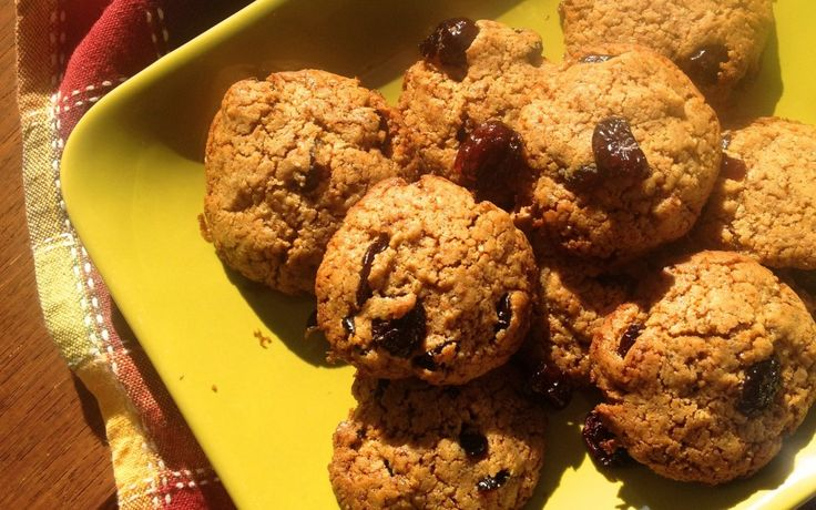 Spelt Cranberry Cookies - dairy, wheat and cane sugar free.