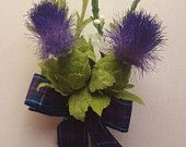 Scottish Thistle Buttonhole Stunning for the Groom ,Best Man ,,Usher, Guest Wedding.