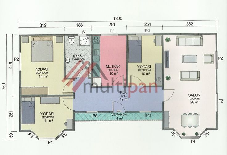 MP7 98 Square Meters Separate Lounge / Kitchen 3 Bedrooms 1 Bathroom