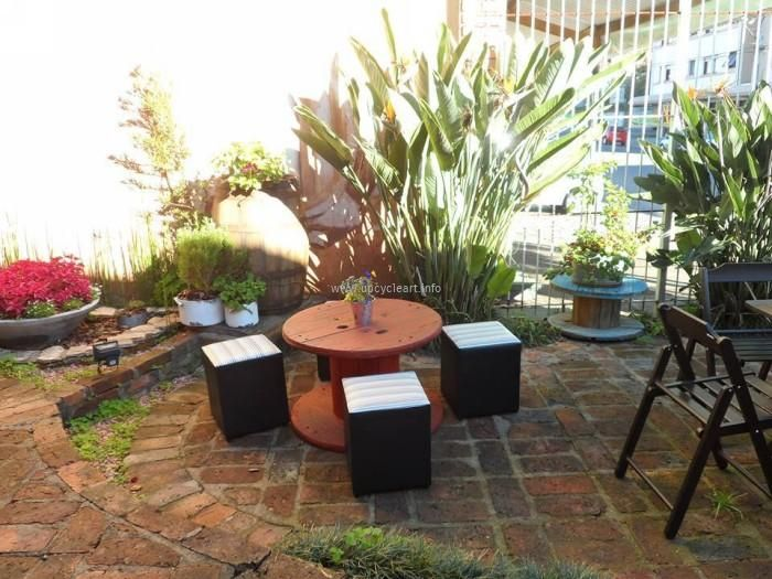 For instance being specific for your patio or garden sitting arrangement, you can manage for many stylish sitting arrangements there just by recycling wooden reel cables.