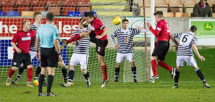Brechin City's Dougie Hill scores during the Ladbrokes League One game between Brechin City and Queen's Park. P
