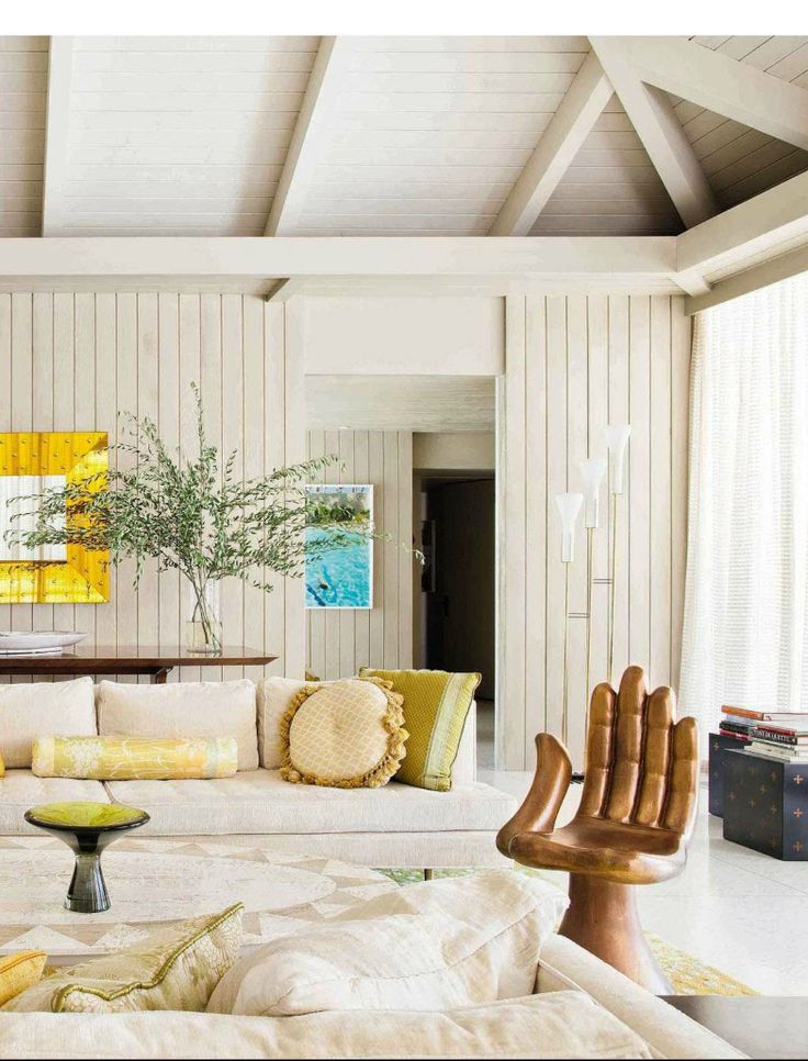 Mid Century Modern living room from AD Spain.