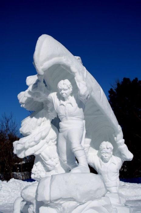 Awesome snow sculptures -