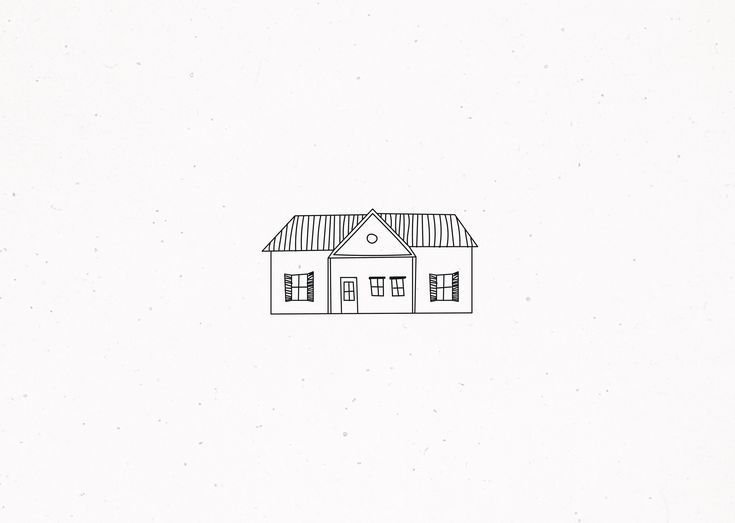 Haus Illustration In 2020 House Illustration Minimal Drawings Simple Doodles