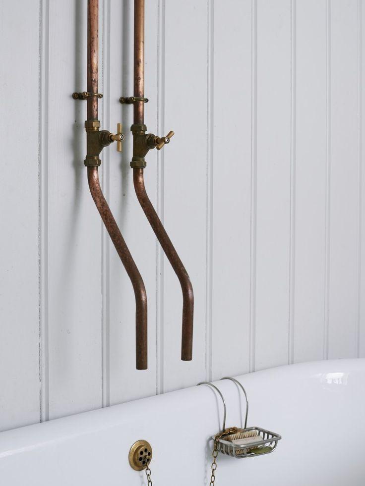 FleaingFrance....Natural copper bath fixtures via Remodelista