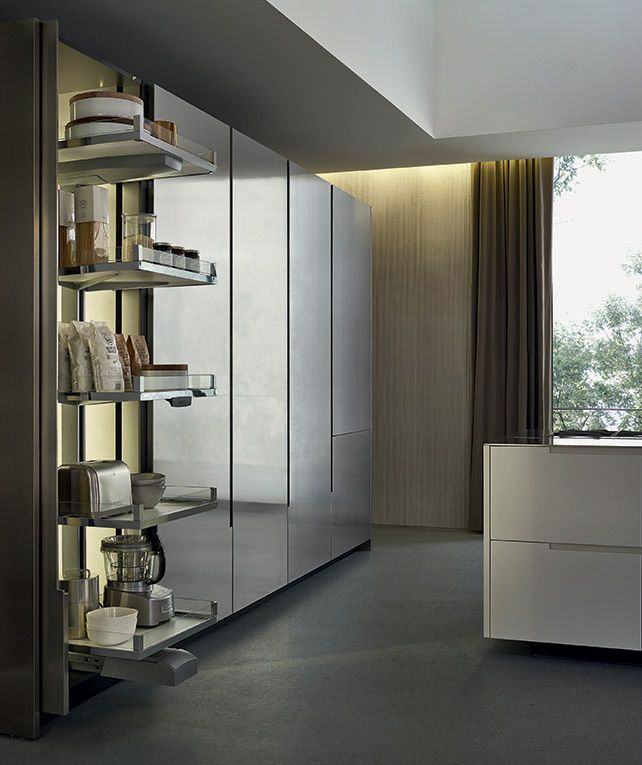 Contemporary kitchen / stainless steel / lacquered - PHOENIX - Varenna Poliform