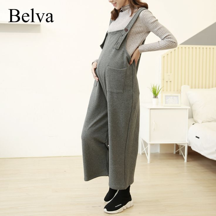 <January's Offer! Click Image to Buy!> Belva   Autumn Winter Maternity Pants Top Cotton Adjustable Loose Fashion Rompers Clothes for Pregnant Women Pants 707 ** Offer can be found on  AliExpress.com. Just click the image