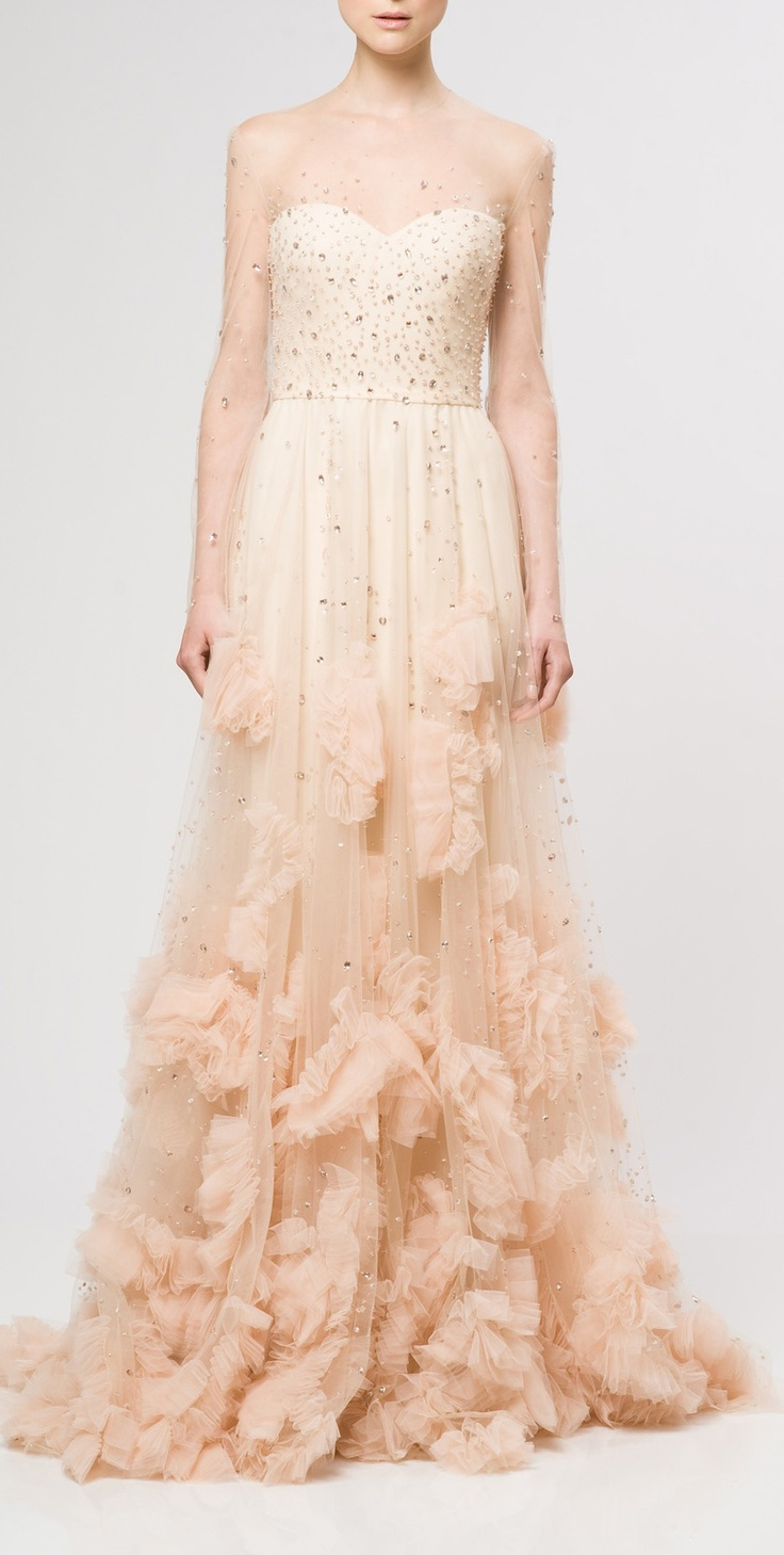 Beaded Ruffled Gown / Reem Acra: Wedding Dressses, Fashion, Reem Acra, Wedding Dresses, Reemacra