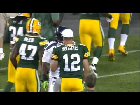 Marshawn Lynch Hugs Aaron Rodgers and Tickles His Moustache..see i'm not the only one who doesn't like Rodgers moustache! Great QB...but the stache needs to go!