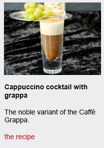 Cappuccino cocktail with grappa - Συνταγές Καφέ