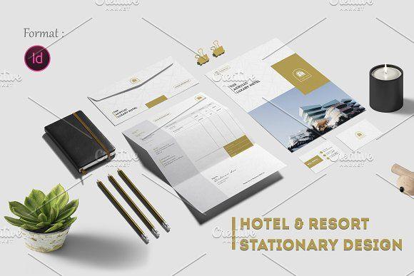 Hotel & Resort Stationary Design   by Addaxx on @creativemarket