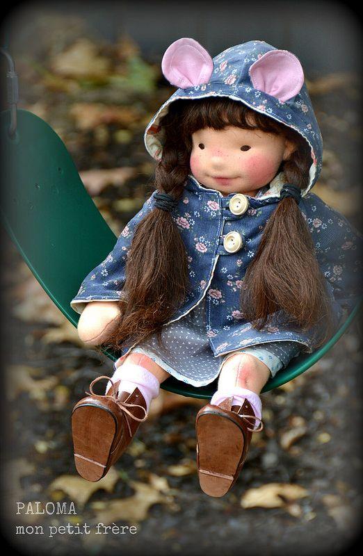 Paloma-natural fiber art doll by Mon Petit Frère