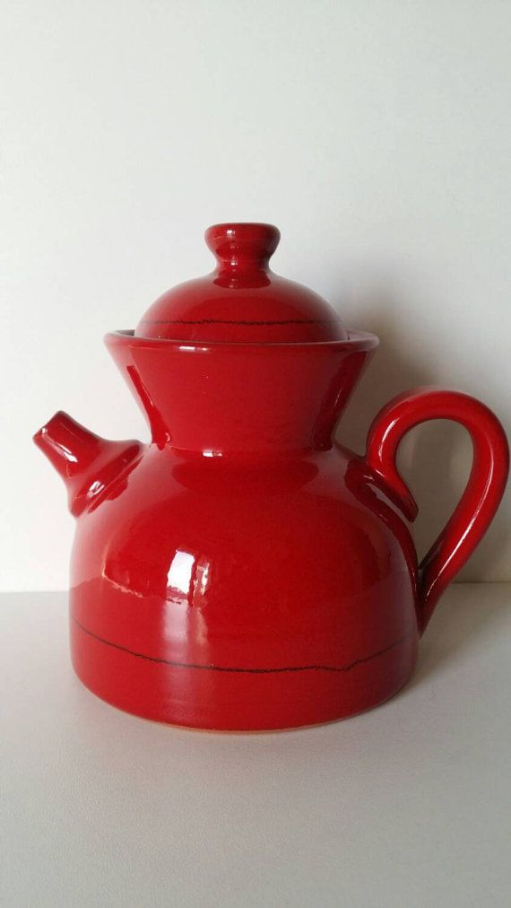 Red teapot via Brava Vintage etsy.com