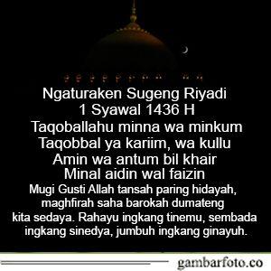 Ucapan Idul Fitri Bahasa Jawa Halus