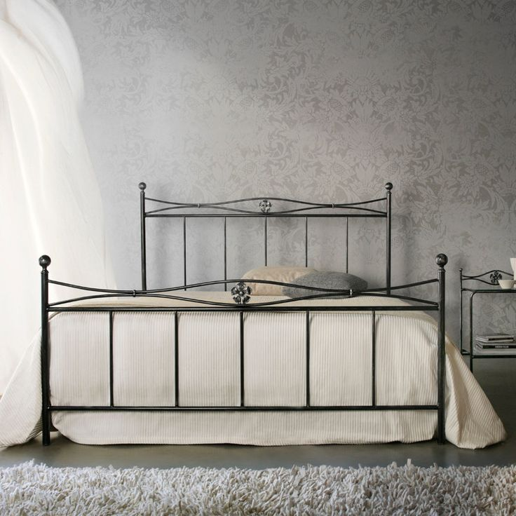 Albatros Bed  This wrought iron bed is amazingly simple compared to the other Cosatto's designs, but it is elegant and sober and gives your bedroom a vintage touch. We particularly like the detail of the flowers in the middle of the frames.  Available as King/Double/Single
