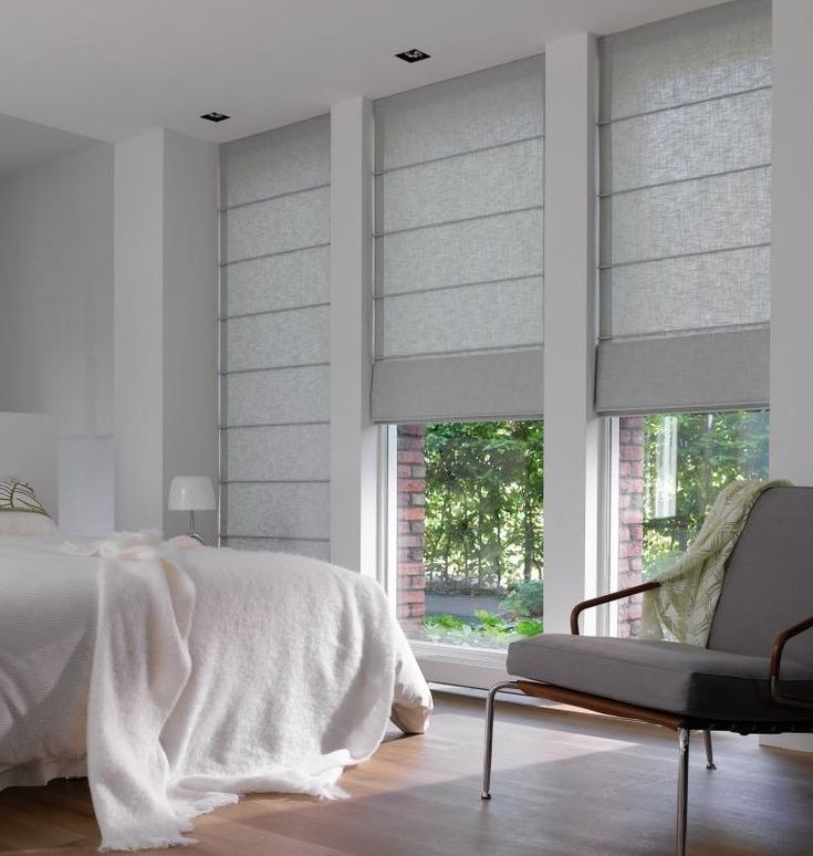 Рулонные и римские шторы из натуральных тканей #blinds #romanshades #window #interior #спальня #шторы #жалюзи #декорокна #римскиешторы