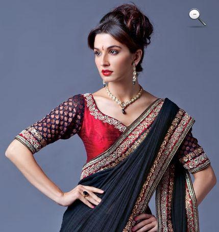 Colour combination, blouse design