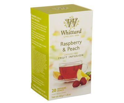 Whittard Raspberry & Peach Fruit Infusion - 20 teposer