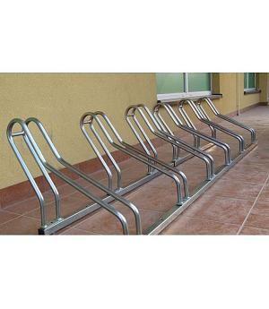 Aparcabicis acero galvanizado 6 bicicletas. MOD. CLAS-X. REF 09VLN2006