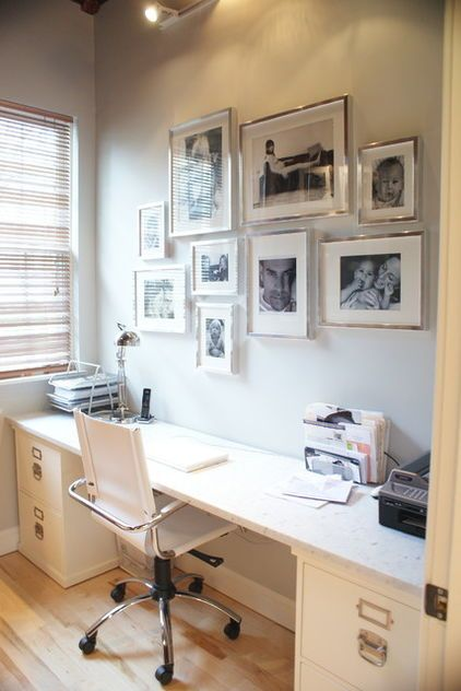 modern home office by Melissa Miranda Interior Design - silver frames for the stairwell upstairs?