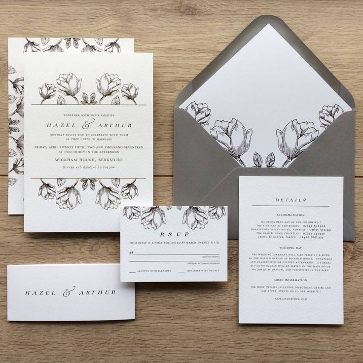 78+ Ideas About Floral Wedding Invitations On Pinterest
