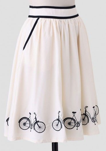 New bicycle skirt in store and online at misslfire.com, also available in navy!