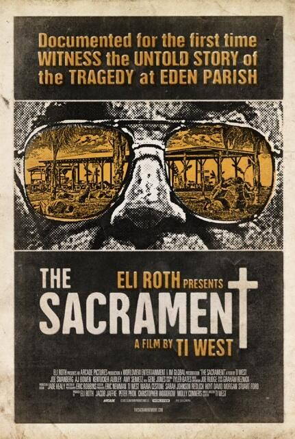 """The Sacrament follows two Vice media correspondents as they set out to document their friend's search to find his missing sister. They travel outside of the United States to an undisclosed location where they are welcomed into the world of ""Eden Parish,"" a self-sustained rural utopia comprised of nearly 200 members. At the centre of this small, religious, socialist community is a mysterious leader known only as ""Father."" As their friend reunites with his sister, it becomes apparent to the…"