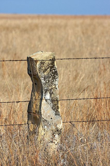 Limestone Fence Post Country Kansas Been There