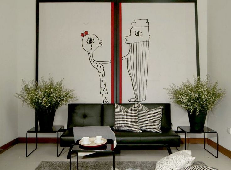 Decorate the house with Painting. Painting is not just a two-dimensional piece of art that is able to freshen the eye.