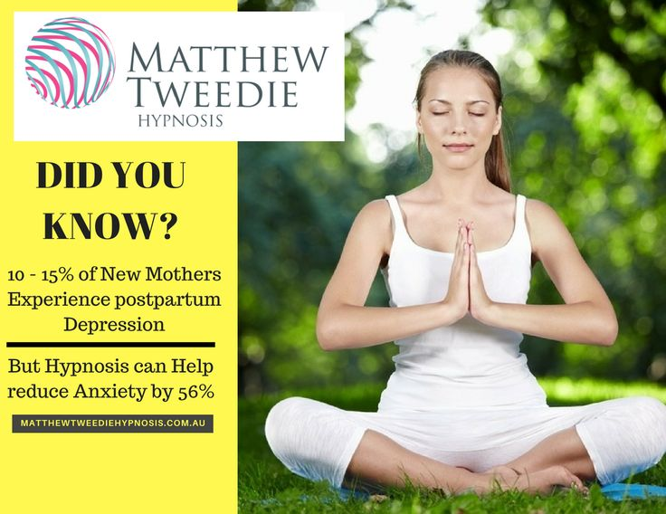 Did you know new mothers experience postpartum depression and Hypnosis can help reduce anxiety by 56%? For consultation visit: http://matthewtweediehypnosis.com.au/hypnotherapy-depression-adelaide/  #depressionhypnotherapy #AnxietyHypnotherapy