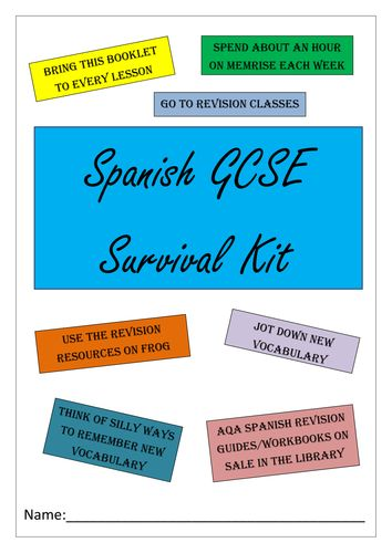 BUMPER SPANISH GCSE REVISION PACK