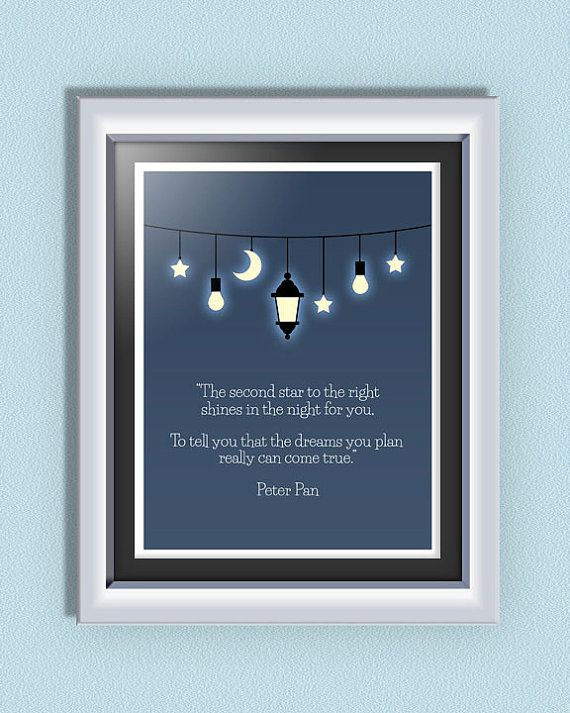 INSTANT DOWNLOAD Inspirational Disney Quote from Peter Pan