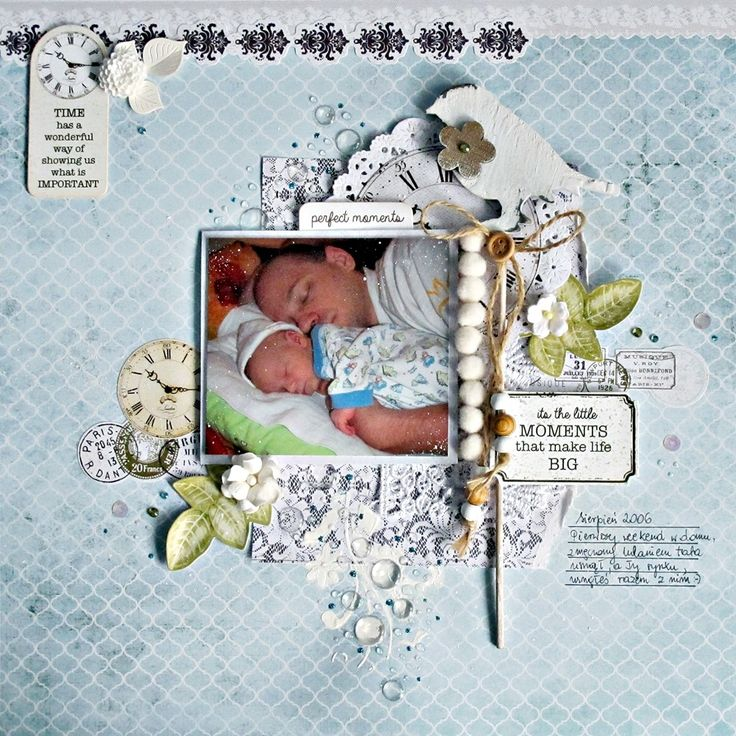 "Kaisercraft Provincial - ""Perfect Moments"" layout by Anna Zaprzelska"