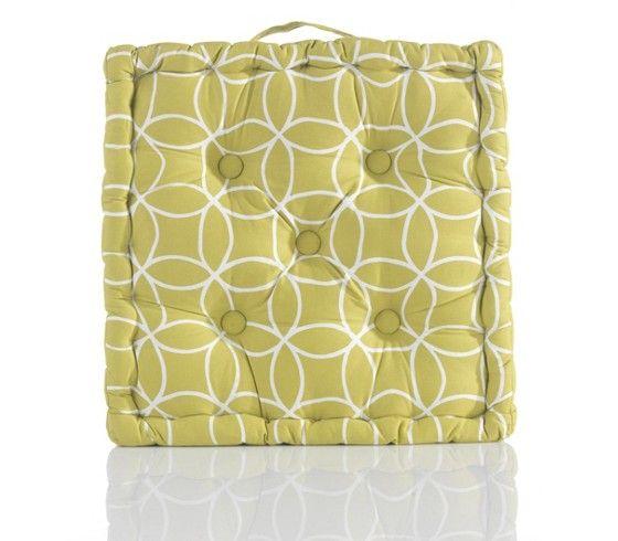 Trendiges Sitzkissen im tollen Kreisdesign - ein echter Hingucker