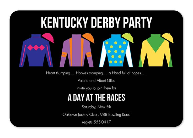 Derby dapper party invitations by invitation consultants item ic