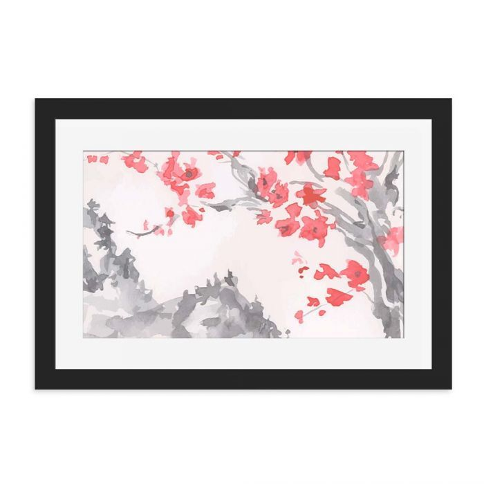Japanese Blossom Black Framed Wall Art Print. - Discover cool framed art prints for your home or office from our online shop Love Cool Gifts, a specialist gift shop with framed wall art for any room, gift ideas with unique designs.  #homedecor  #art   #homestyle     #lovecoolgifts   #home