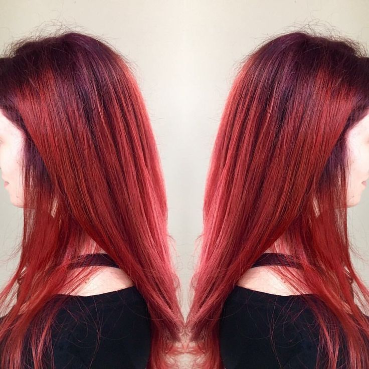 Colored base with 5RV and ends with 1oz 7R, 1/2 7RV, 1/2oz red intensifier. All color XG.