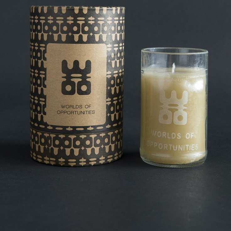 nicerworld.com - WOO Candles - Recycled Vodka Bottle, Large 100 Hour Candle