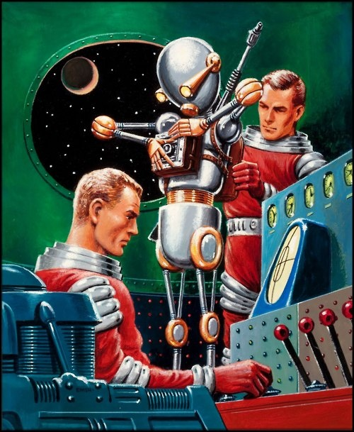 Unknown Science Fiction digest cover by Edward Emshwiller