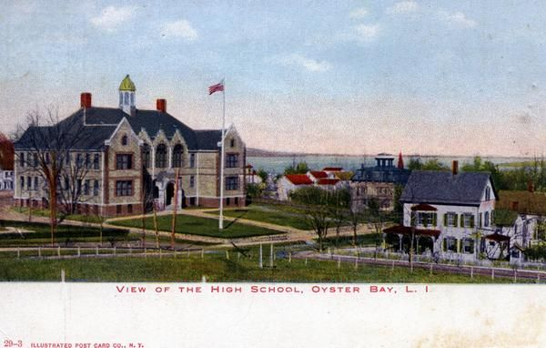 Greetings from a high school in Oyster Bay, c. early 1900s