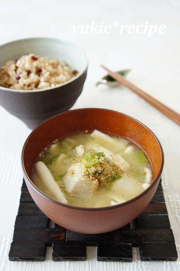 里芋と長ネギの胡麻味噌汁 by 磯村優貴恵   レシピサイト「Nadia ...