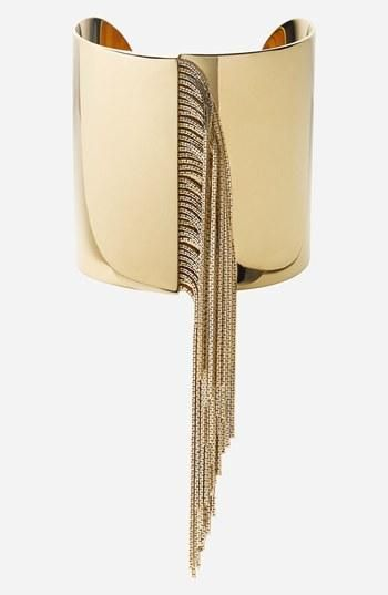 On the fringe! Michael Kors Gold Cuff.