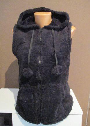 Kupuj mé předměty na #vinted http://www.vinted.cz/damske-obleceni/s-kapuci/11051405-nova-cerna-plysova-vesta-s-usima