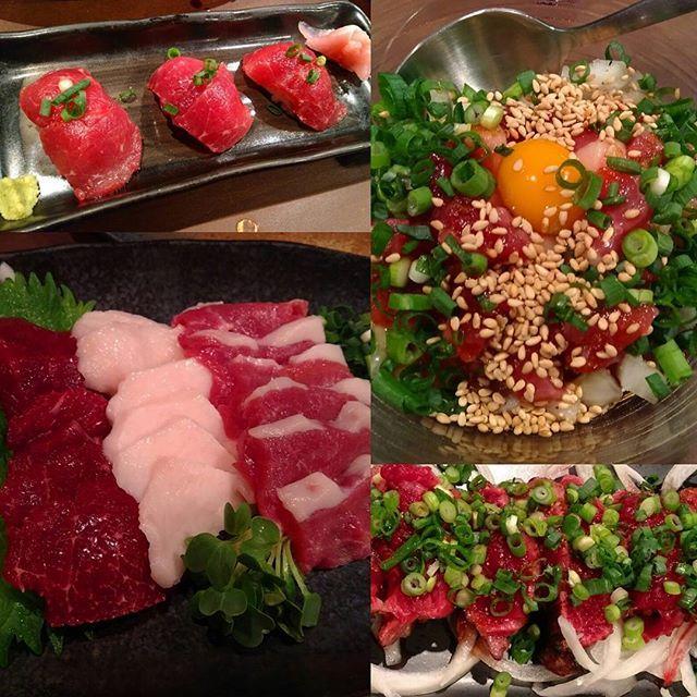 . . 大好きな馬肉 幸せな時間でした😍🐴 . . #馬肉 #馬刺 #肉 #生肉 #ユッケ #グルメ #大阪グルメ #大阪 #肉部 #肉活 #肉寿司 #寿司 #阿波座 #食べログ