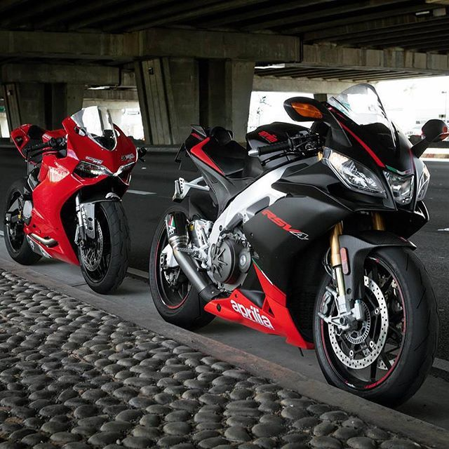 motorcycles-and-more:  Aprilia RSV4 & Ducati  -