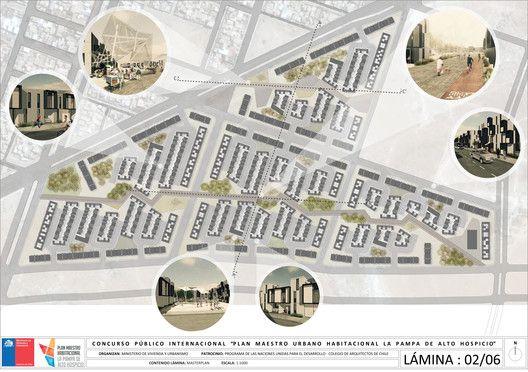 Primer Lugar Profesional en nuevo plan maestro urbano habitacional en Alto…