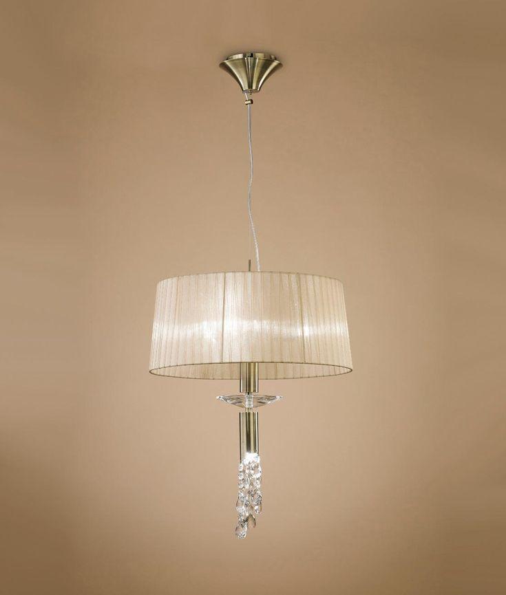 Colgante pequeño cuero TIFFANY 3+1 luces - La Casa de la Lámpara