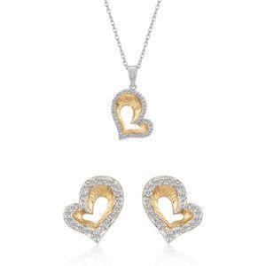 Conjunto Golden Heart Dos Tonos  #colgante #corazón #joyas #joyería #sanvalentín #diadelosenamorados #conjunto  #valentinasalerno #pendientes #earrings #corazones #jewels #jewelry #bracelet #pendant  #heart #hearts #valentinesday #love #inlove #jewelry set