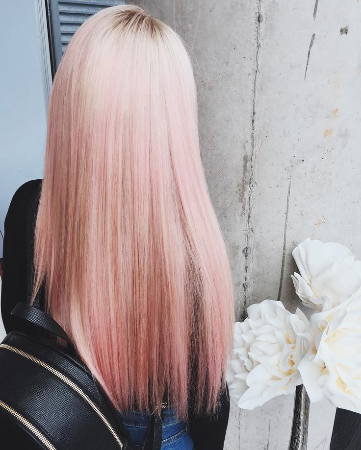 Pastel Pinkhair Straight Hair Styles Cotton Candy